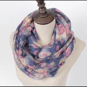 Casey Floral Infinity Scarf
